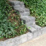 cobble stone border and waterproofing 002