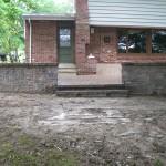 damaged steps and paver job 018